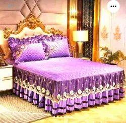 Oak Wood Black Designer Double Bed, For Bedroom, Size: 6feet *6feet