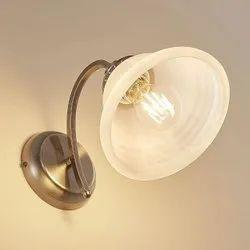 Warm White Brass Curve Wall Light, 15W
