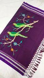 Wedding Khan/Khun Design Sarees, With blouse piece, 6.20 MTR