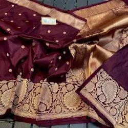 6.3 m (With Blouse Piece) Wedding Pure Silk Banarasi Saree, Without Blouse Piece