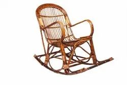 Modern Brown Cane Rocking Chair, For Home, Back Style: High Back