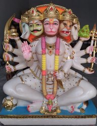 Makrana marble panchmukhi hanuman 3.5 feet
