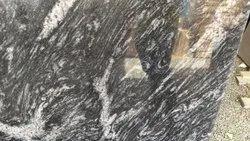 Black Honed Granite Stones, For Flooring, Thickness: 5-10 mm