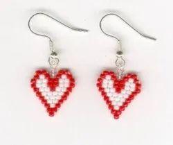 Multicolor Glass Bead Earrings
