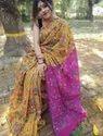 Handloom Cotton Silk Kalamkari Printed Sarees