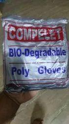 compelet Vinyl Biodegradable Polyethylene Gloves, Powder Free