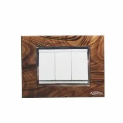 Arrostar 240v Modular switch with wooden plates