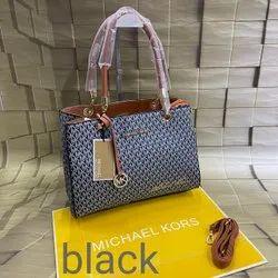 Michel Kors Brown Mk Stachel Handbags, For Casual Wear