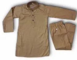 Casual Wear Plain Kids Kurta Pyjama, Size: 16-36