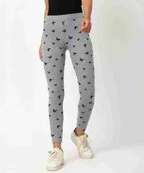 Primrose Ankle Length Ladies Cotton Printed Leggings, Size: Free Size