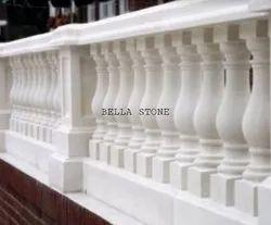 White Marble Stone Pillar