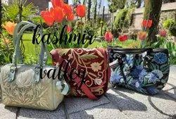 velvet Kashmiri Ladies embroidered Bags
