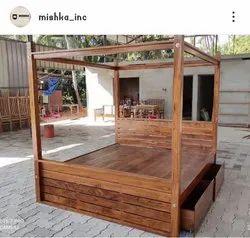 Mishka INC Teak Bedroom Furniture Manufacturer in Thrissur, For Home, Size: Queen