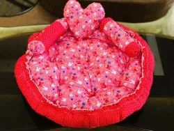 red Cotton Baby Sleeping Bed, 1-2 Years
