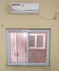 UPVC White Sliding Window With Mesh