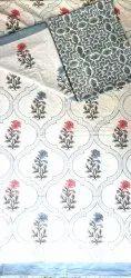 Vinayakam Hand Block Printed Cotton Bed sheets