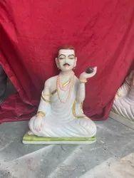 Marble Guru Basaveshwara Statue
