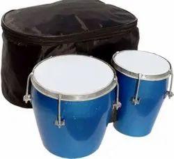 Wooden Brown Bango Drum, For School/Play School
