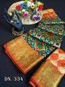 Pure Tussar Silk Gold Pure Zari