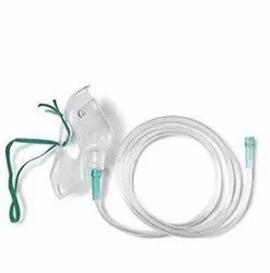 Apparatus Oxygen Portable Light Weight Tubing 122 Cm White Mask Adapter And Bayonet Connection