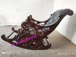AF International Antique Royal Rocking chair, For Home, Back Style: Cushion