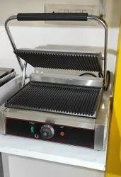 Stainless Steel Single Sandwich Griller, For Hotel, Model Name/Number: De-sg-s-a