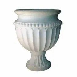 White Marble Flower Pot, 1.5, Size: 2