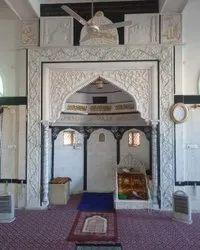 Indoor Square Marble Masjid Qibla, Size: 8x11