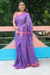 Tissue Khadi Thread Weaving Sarees