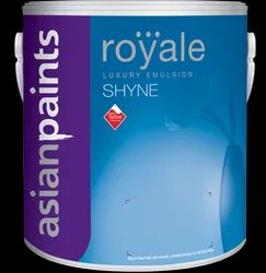 High Sheen White Asian Paints Royale Shyne Luxury Emulsion, For Interior Walls, Packaging Size: 20ltr