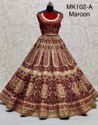Red And Maroon Bridal Lehenga Choli