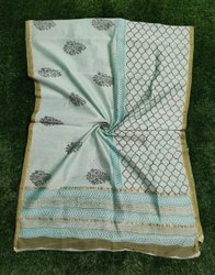 Printed Chanderi Silk Dupatta