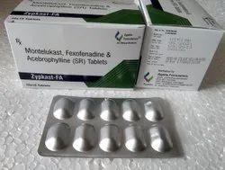 Acebrophylline 200 Mg Fexofenadine 120 Mg Montelukast 10 Mg