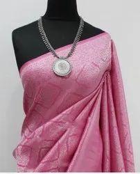 Row Silk Saree, 6 m (With Blouse Piece)