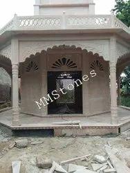 Stone Temple Octagon With Parikrama Marg