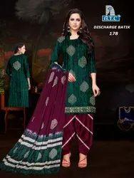 Cotton Wax Batik Salwar Suit