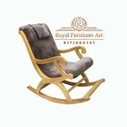 Weight: 14 Kg Teek Wood Light Modern Wooden Rocking Chair