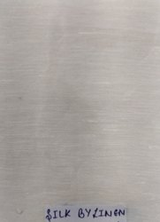 White Pure Linen Silk Fabric, GSM: 100 GSM