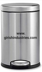 Silver Ware Stainless Steel Plain Pedal Dustbin