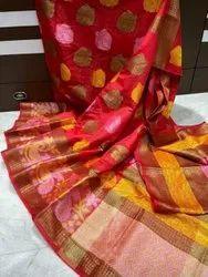 Dupion 4 Colors Warm Silk Sarees, 6.3 m (with blouse piece)