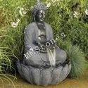 Stone Buddha Statue with water Fall