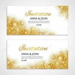 Wedding Gold Leaf Invitation Card