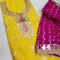 Chanderi Kurta Hand Gottapatti Work Suit