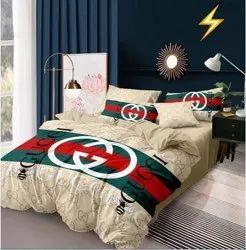 China Glace Cotton Bedsheet