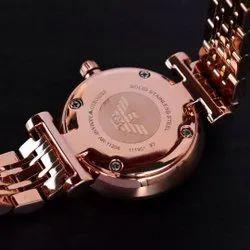 Rosegold Women Men Emporio Armani Hand Watch