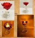 Rose Quartz Candle Holder