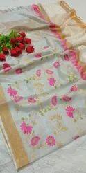 Tissue Linen Weaving Sarees