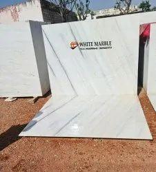 White Polished Finish Makrana Alberta Marble, Application Area: Flooring, Thickness: 15-20 mm