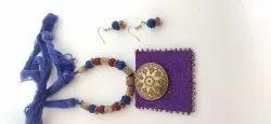 Necklace Handmade Fabric Jewellery