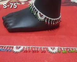 Alloy Party S-75 Artificial Crystal Anklets